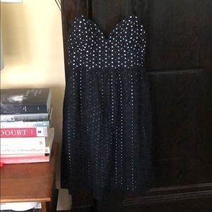 Democracy eyelet dress, black/white, sz. 2